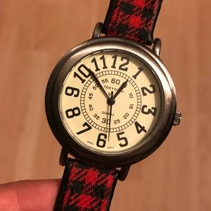 Tokyo Bay houndstooth leather watch